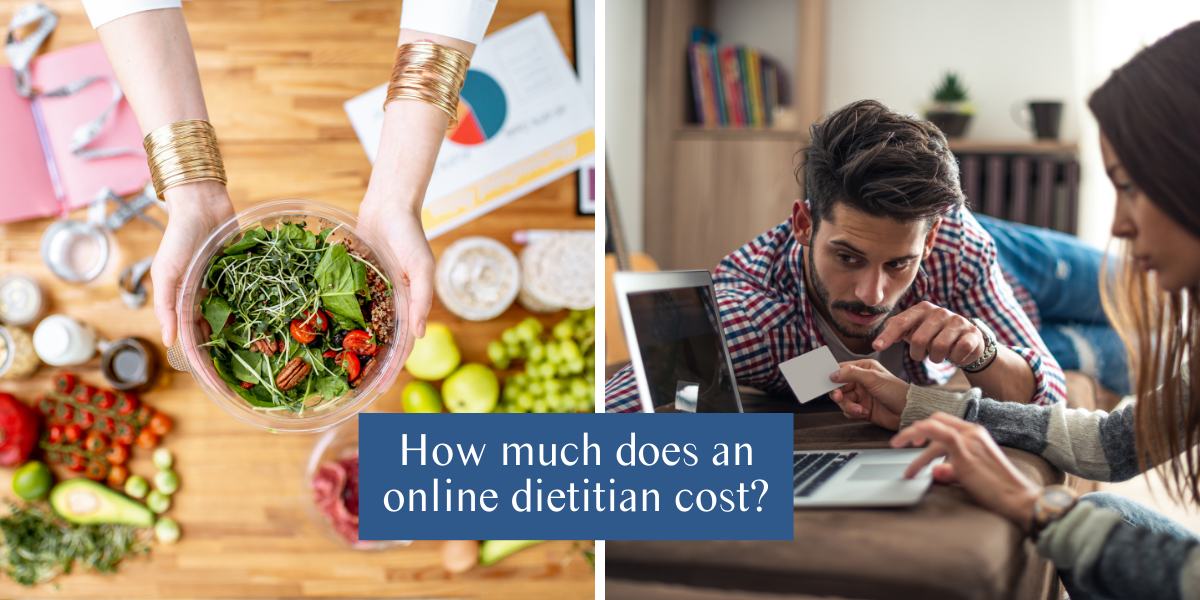 How much does an online dietitian cost?