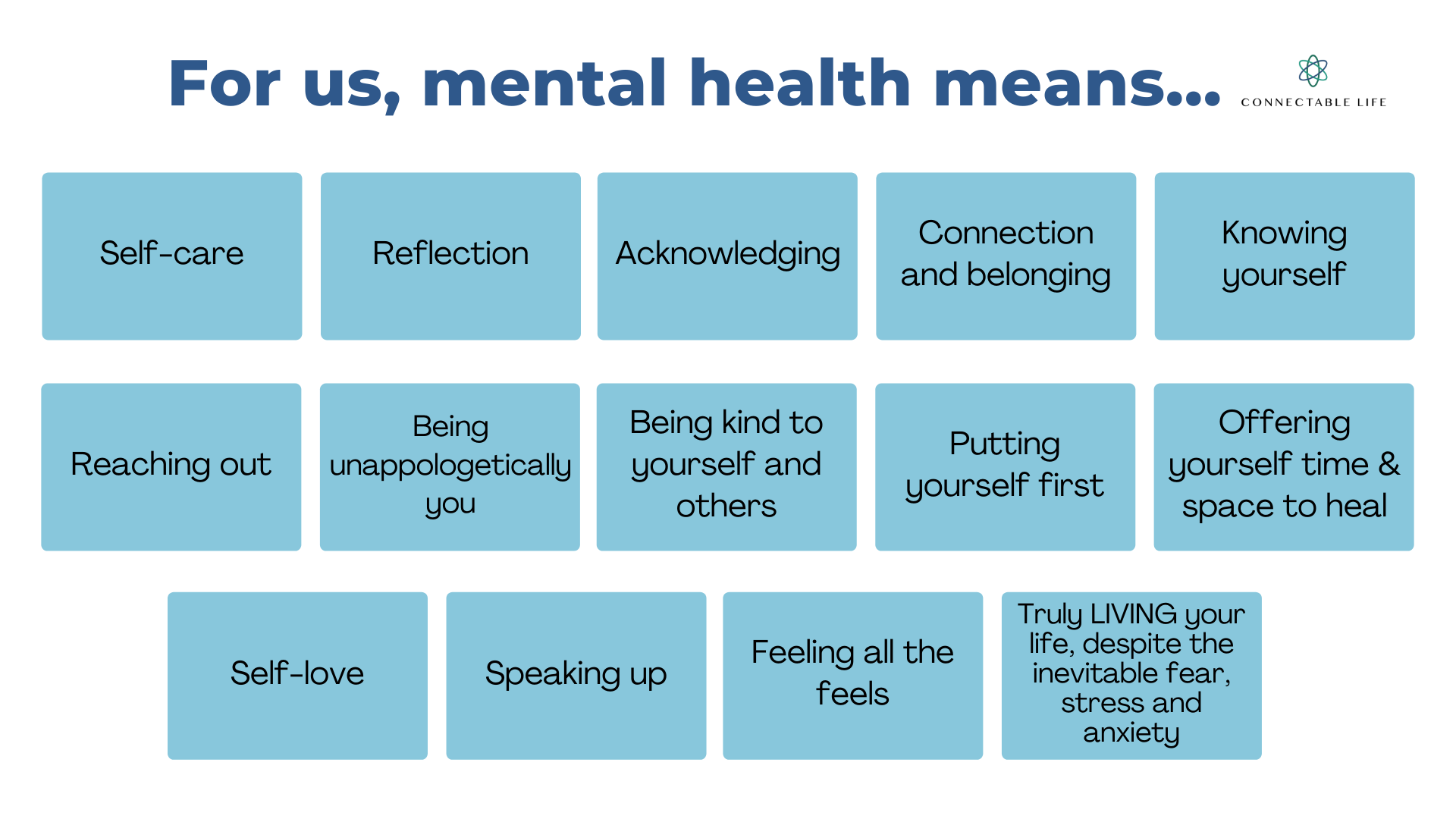 Mental Health means - Connectable Life